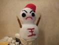 王道のキャラクター☆王道のマスコット雪だるまくん♪実は名前がまだないのです・・・だれかいい名前つけてくださいな♪