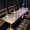 ソファータイプのテーブル席をつなげると、最大10名様までご利用頂けます。 【流川】【誕生日】【女子会】【合コン】【サプライズ】【二次会】【貸切】【ダーツ】【カラオケ】【バー】【飲み放題】