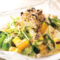 料理メニュー写真豆腐と穀物のサラダ