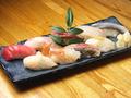 料理メニュー写真並握り寿司