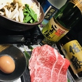 料理メニュー写真黒毛和牛すき焼き