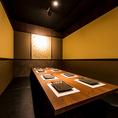 《和モダン溢れる大人個室-4~6名様-》落ち着きある大人の和モダン空間。接待や会食などにおすすめです。