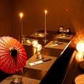 会社帰りから様々な宴会に使える隠れ家個室は最大60名までOK!宴会にオススメの各種飲放付コースは2480円~♪