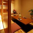 個室は人数に合わせてご用意しております。掘りごたつ席と座敷がございます。