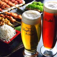ビールは7種類ご用意