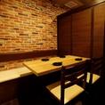 完全個室にてお客様のプライベートをお守りいたします。2名様から団体様まで日本独特の奥ゆかしさを感じさせる個室でお寛ぎください♪長時間の飲み放題付きコースは2899円から各種用意◎