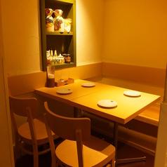 4名様までの少人数テーブル席!デートなどにおすすめ♪こだわりのイタリアン料理などを気軽にお楽しみ頂けます。