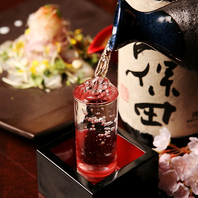 銘柄焼酎・日本酒も取り揃えております。歓送迎会にも◎