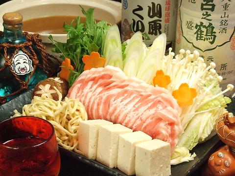 その甘味と旨味に驚く人多数のアグー豚!飲み放題付きで5000円(税込)8名~要予約