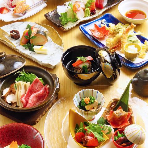 旬の食材を愉しめる【料理長おまかせコース】料理のみ全10品7700円(税込)