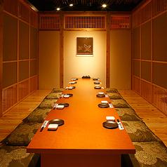 ご予約時に人数をお申し付けいただければ、ぴったりの個室をご用意致します。個室のご予約はお早めに!
