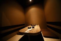 4名様のテーブル個室です。同タイプのお部屋が5部屋ございます。