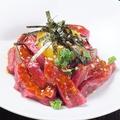 料理メニュー写真★極上ロースのプレミアムユッケ