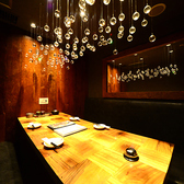 テーブル完全個室のテーブル席コンパ、デートやミーティングなど用途はさまざま!1か月以上前から予約される方もいらっしゃいます2名様~最大6名様