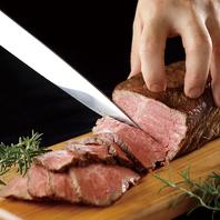 真空低温調理法でお肉の旨味、柔らかさを堪能できます。