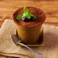 料理メニュー写真植木鉢ティラミス