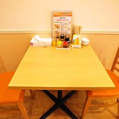 2名用テーブル席。