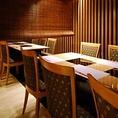 ≪ ≪業者による一斉消毒・殺菌を実施し、壁やテーブルなどを抗菌処理≫ ≫テーブル席(半個室) 6席×2テーブルご用意しております。