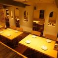 会社の仲間やカップル・お子様連れでも落ち着いてお食事が楽しめます♪様々なシーンにあわせてお席ご用意致します!