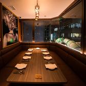 6名様~最大12名様までご利用できる、当店唯一の完全個室席。赤坂の夜景を見ながら心行くまでお楽しみください。