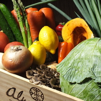 野菜は島根県直送の旬のものを使用!