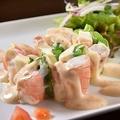 料理メニュー写真≪洋≫海老とアスパラガス とろけるチーズの生春巻き
