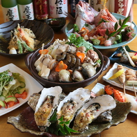 ボリューム満点!海鮮や串焼きなどを中心の宴会プラン