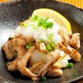 料理メニュー写真地鶏セセリのおろしポン酢