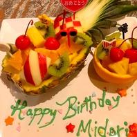 誕生日・記念日・各種お祝いをデザートプレートで☆