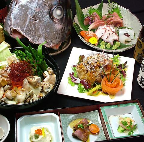 落ち着いた雰囲気で会社宴会・歓送迎会を!!コースは4000円~ご用意。