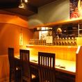 お1人様でも気軽にきやすいカウンター席☆しっぽりお酒を飲みながら、美味しい鮮魚をお召し上がりください☆宴会シーンは勿論の事、プライベートでの利用も大歓迎!