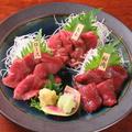 料理メニュー写真馬肉の刺身3種盛