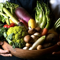 厳選新鮮野菜を使用したイタリアン