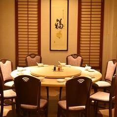 【3階個室】10名様で座れる円卓の個室席が3室ございます。最少人数〇名様~ご利用可能か、御相談承りますのでお気軽に御相談下さい。