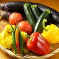 新鮮野菜を自慢の炉ばた焼きや、素材の美味しさを一番に感じられるお召し上がり方で♪