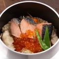 料理メニュー写真鮭といくらの釜飯