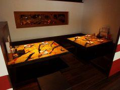 半個室風の掘りごたつテーブル席