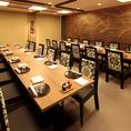 貸し切りも可能な個室はご会合や歓送迎会にも最適