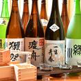 こだわりの焼酎・日本酒も◎