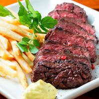 牧草牛の赤身肉(カイノミ)のステーキ