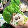 料理メニュー写真チシャ巻きサムギョプサル