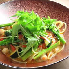 野菜と海鮮の気まぐれパスタ