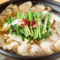 料理メニュー写真もつ鍋 醤油