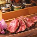 料理メニュー写真牛ハラミ肉の炭火焼き