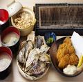 料理メニュー写真殻付き牡蛎定食