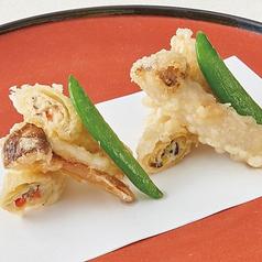 松茸の天婦羅と豆腐けんちん揚げ