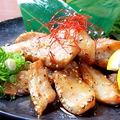 料理メニュー写真豚トロあみ焼きポン酢
