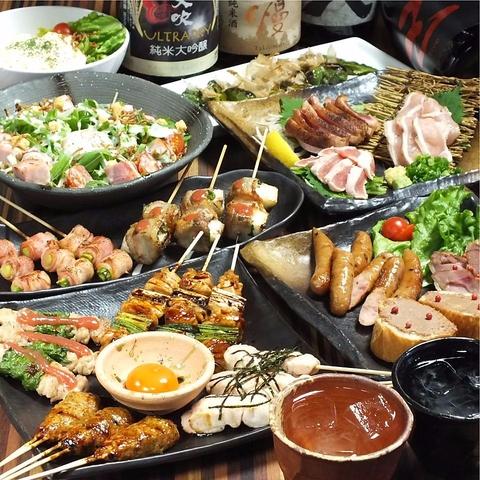 朝引きの新鮮地鶏や、季節の旬野菜、鶏鍋など♪鶏料理が自慢★飲放付コース3000円~