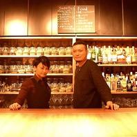オーナー厳選の数多くのティー&ビールが愉しめる。
