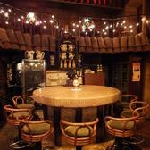 [1F]8名様。大きな大きな円卓席。